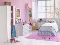 Modern Kiddi 2 Door White & Pink Wardrobe   Children's ...