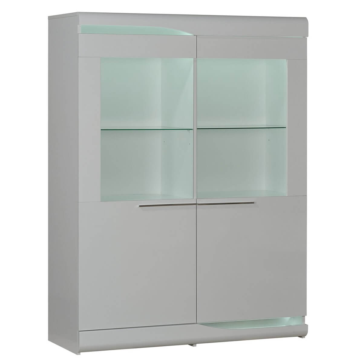 Ovio White Gloss Display Cabinet  Modern Furniture  FADS