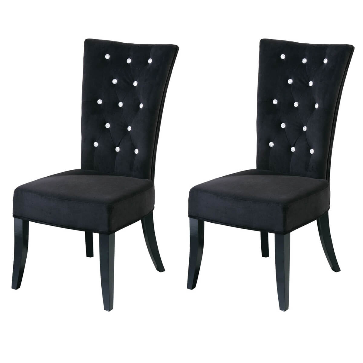 black velvet chair covers for dining room chairs radiance diamante
