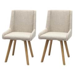 Dining Chairs Fabric Grey Louis Chair Skandi Natural Room