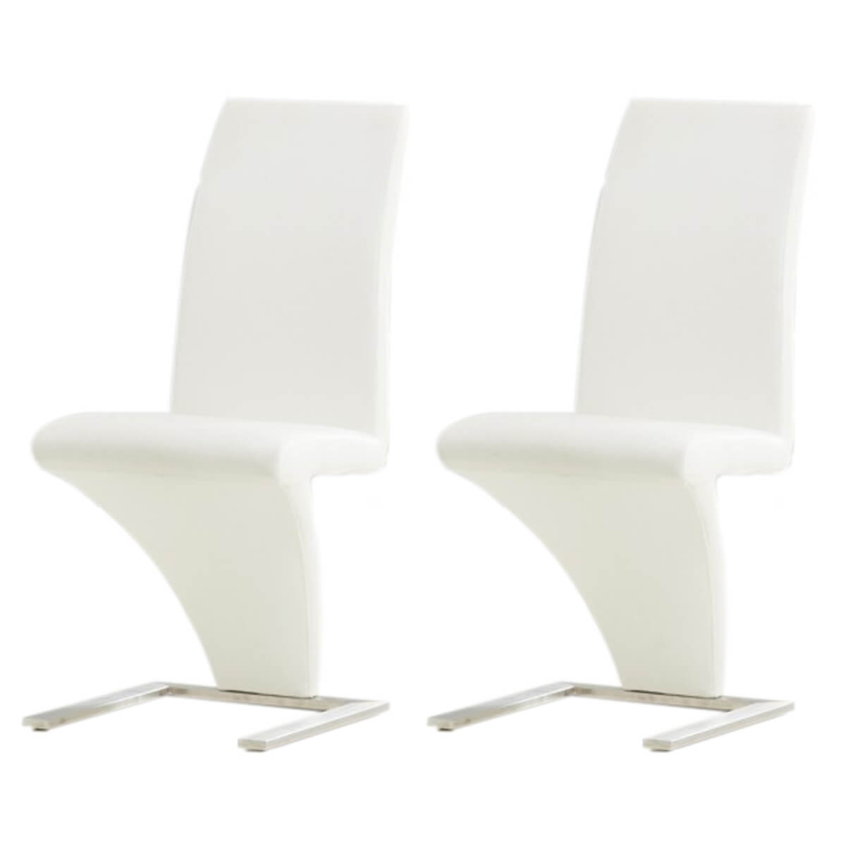 z shaped high chair patio swing south africa white faux leather dining chairs