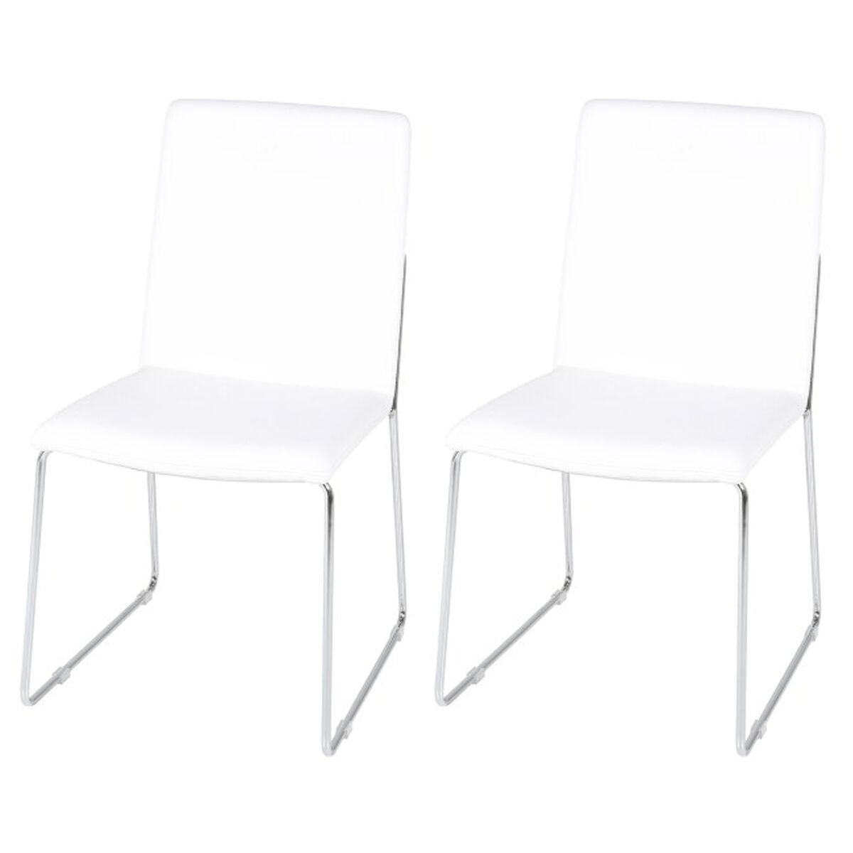 chrome dining chairs uk folding chair near me kitos white faux leather and