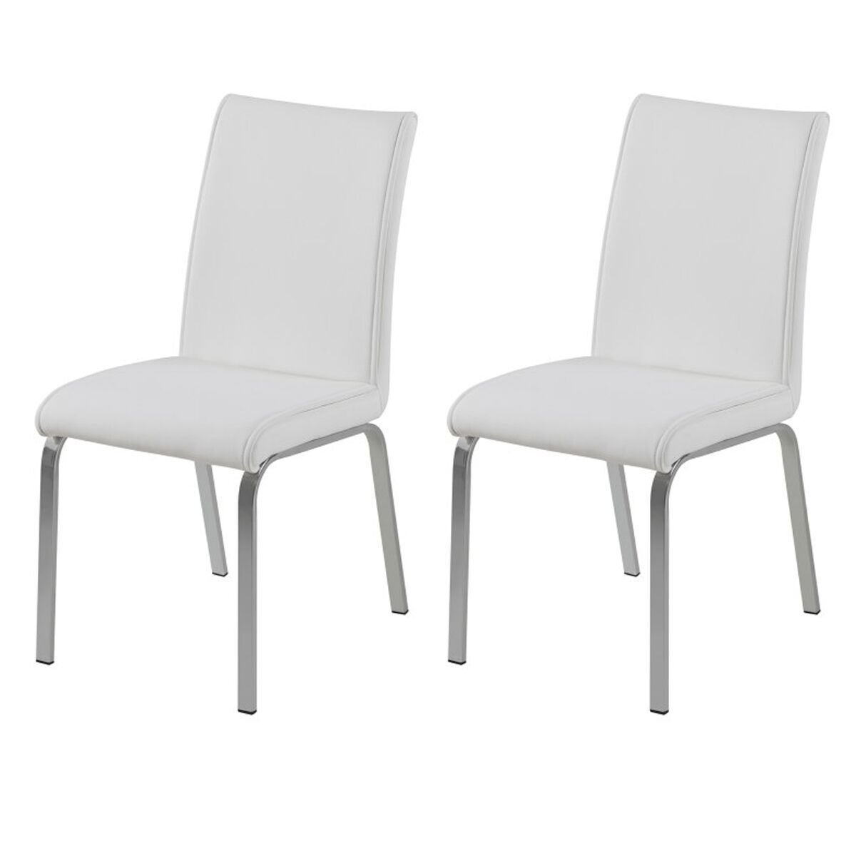 white faux leather chair patio swing canopy replacement leonora dining chairs free delivery