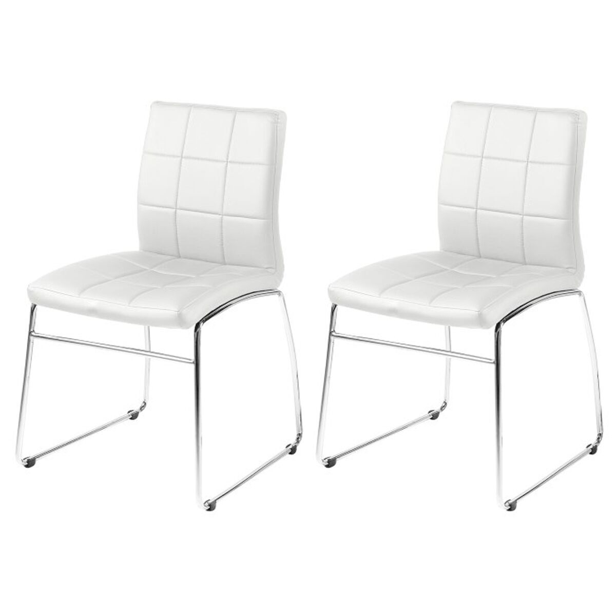 white faux leather chair ikea nursing milla dining chairs pair
