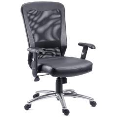 Contemporary Office Chairs With Arms Airflow Chair Black Modern Fads