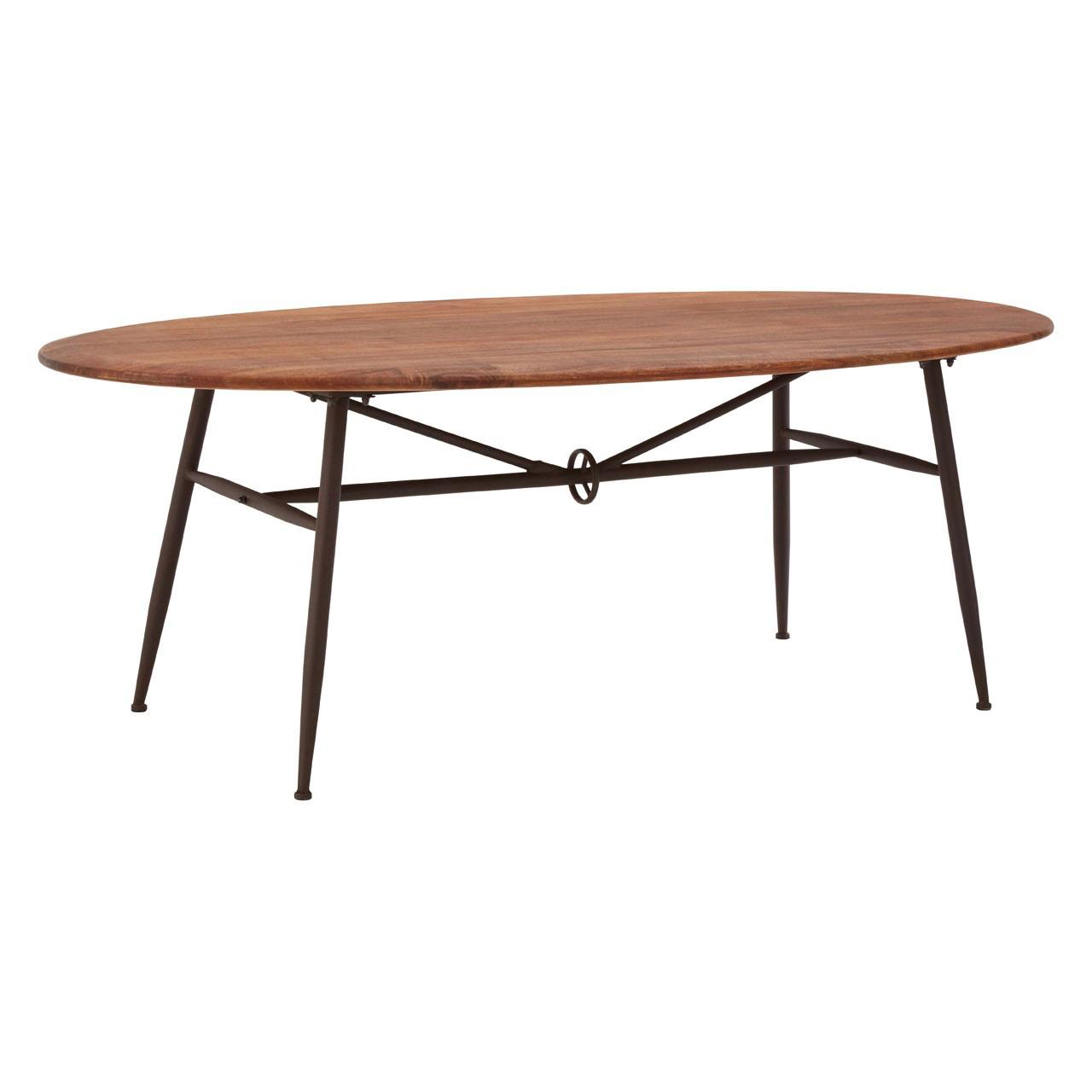 Foundry Oval Walnut Dining Table  Industrial  FADScouk