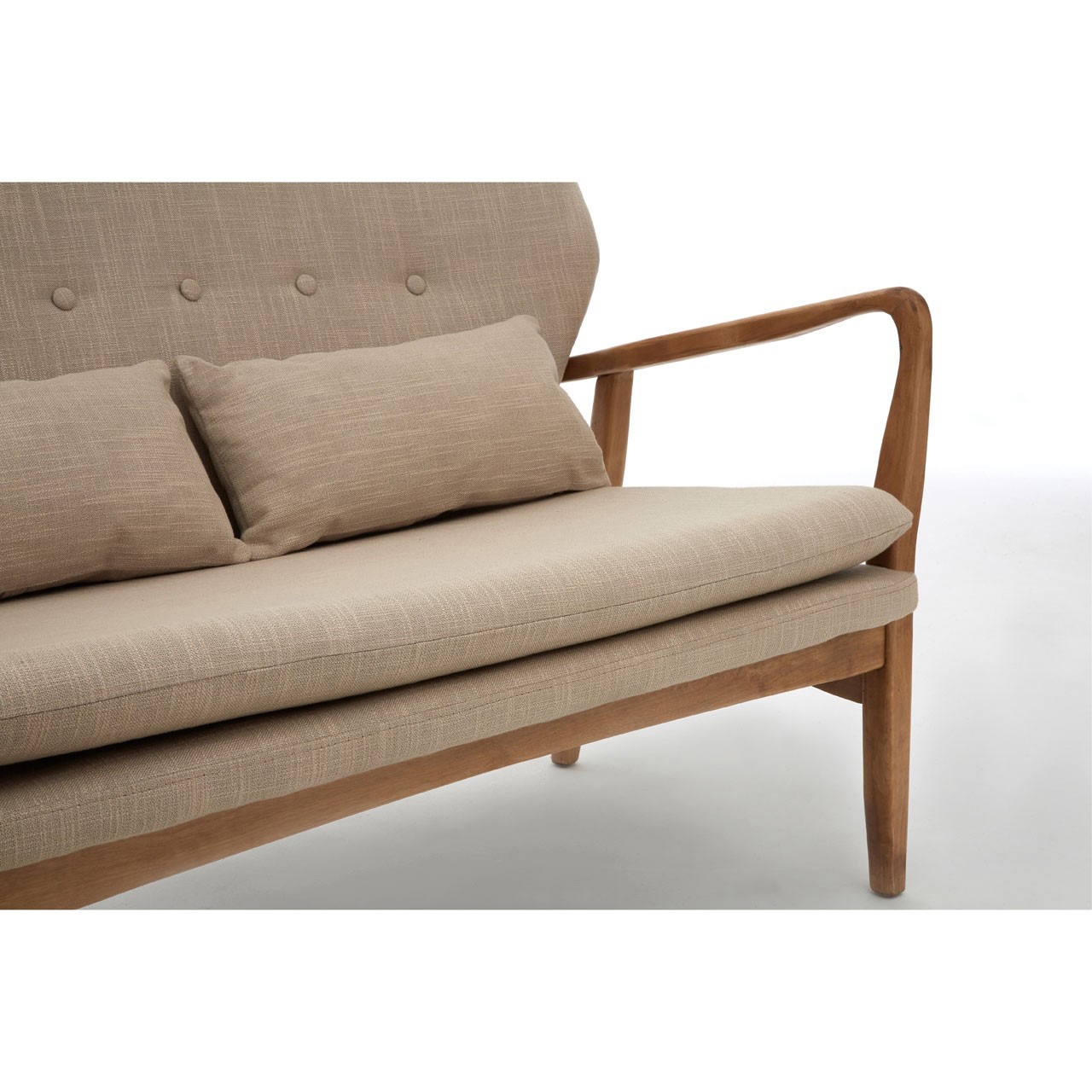 oatmeal sofa pallet table for sale oslo 2 seater scandi style fads co uk