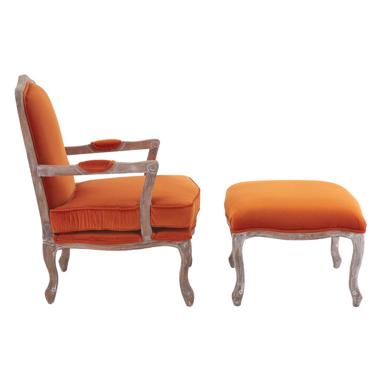 burnt orange chair uk 2013 ford explorer captains chairs baroque armchair and footstool black grey velvet fads