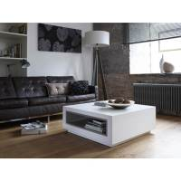 Savoye Matt White Coffee Table | Square Contemporary Table ...