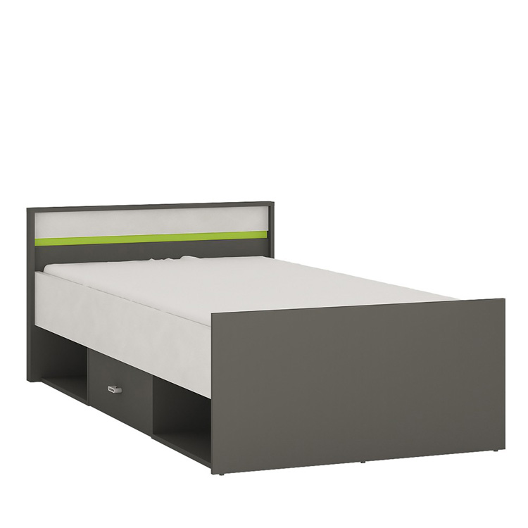 Space Single Bed With Drawer & Storage Grey | FADS