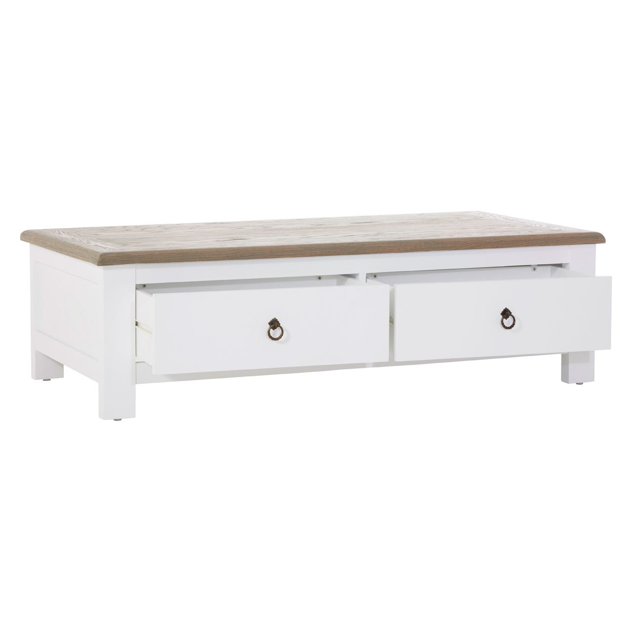 buy hampstead white oak large coffee table 4 drawers fads