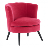 Pink Plush Velvet Round Chair | Living Furniture | FADS