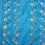 free knitting pattern | cables and lace dishcloth | faerwear