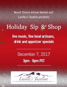 Holiday Sip & Shop | Lucille's Tavolino, Mt. Shasta, California | Shopping Mt. Shasta | faerwear