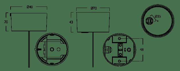 95370 Wire suspension for single installation, 5x0.75 mm²
