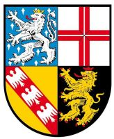 Autoaufkleber Sticker Saarland Wappen   Aufkleber Kontur ...