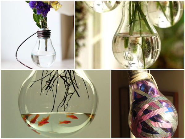 16 idee creative per riciclare vecchie lampadine  Fai da Te Creativo