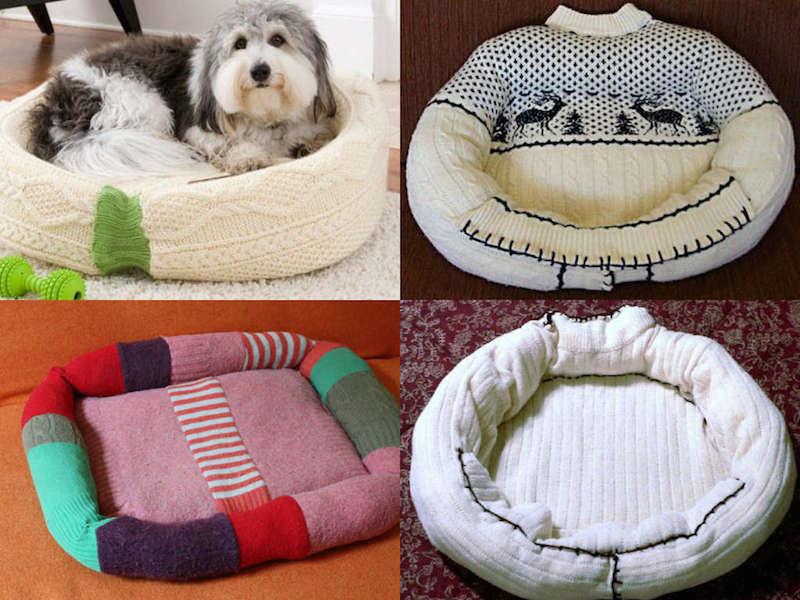Cuccia fai da te riciclando un vecchio maglione  Fai da