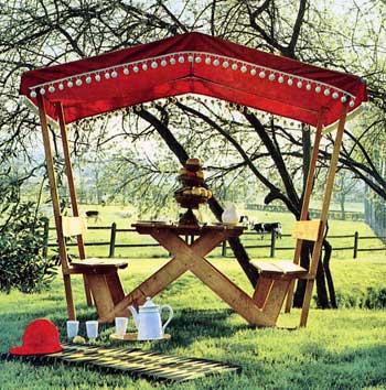 Costruire un tavolo rustico per il giardino
