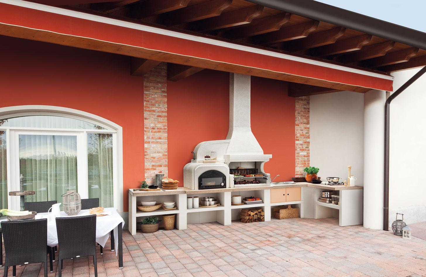Cucine da esterno  Piani cottura barbecue e arredi per grigliare