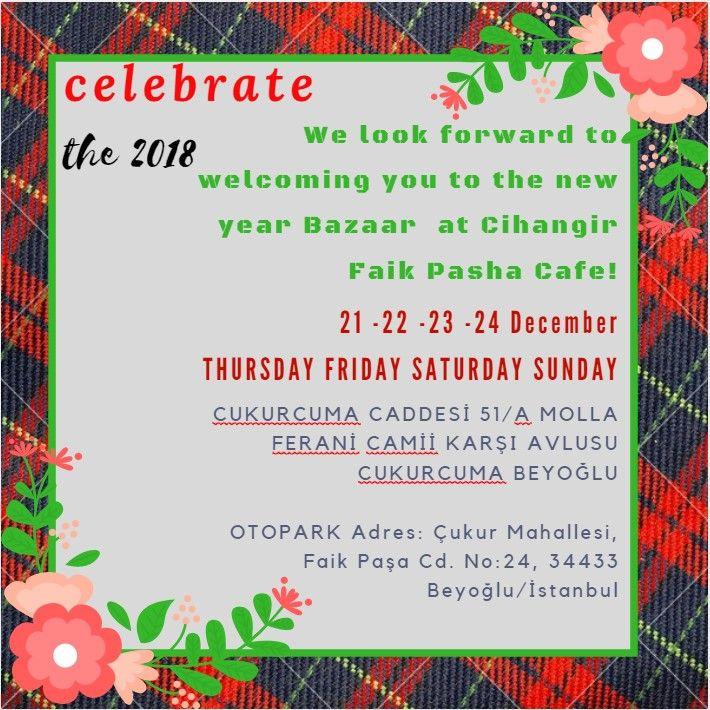 Christmas and New Year Bazaar in Cihangir Faik Pasha Cafe