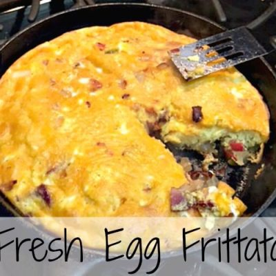 Need Dinner Ideas? Try this Simple, Quick and Easy Frittata Recipe!