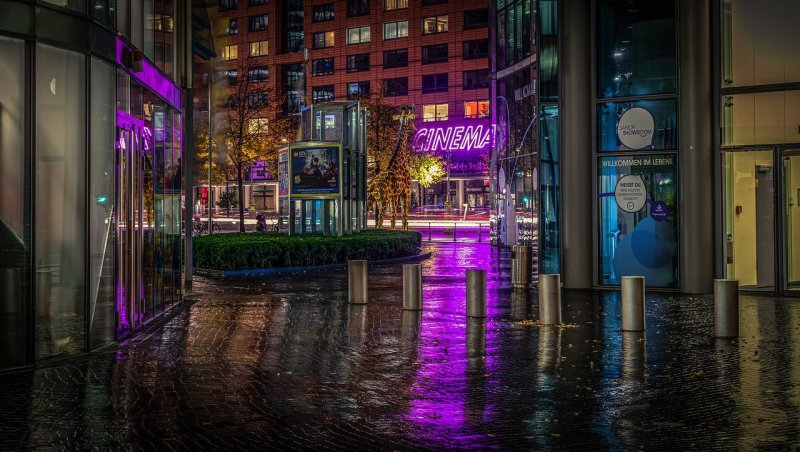 night photograph, long exposure, night