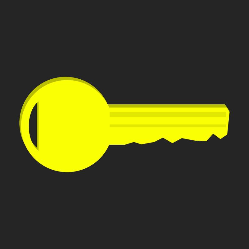 key, key service, yellow