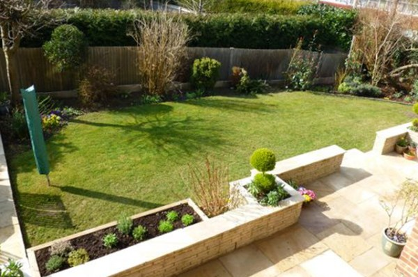 patio and raised beds in horsham