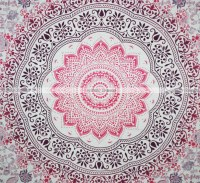 Queen Size Pink Purple Ombre Mandala Tapestry Wall Hanging ...