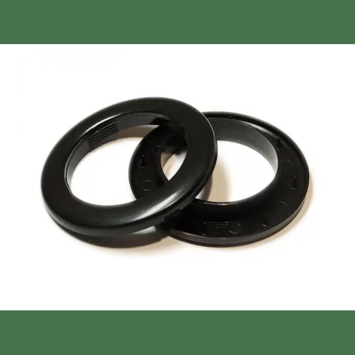 oeillets a clipser pour rideaux coloris noir diametre 28 mm lot de 8