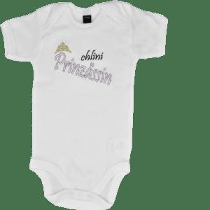 Baby Body mit Spruch Prinzessin weiss neu
