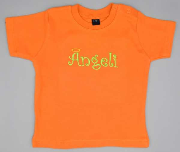 Baby T-Shirt Ängeli orange 6-12 Monate