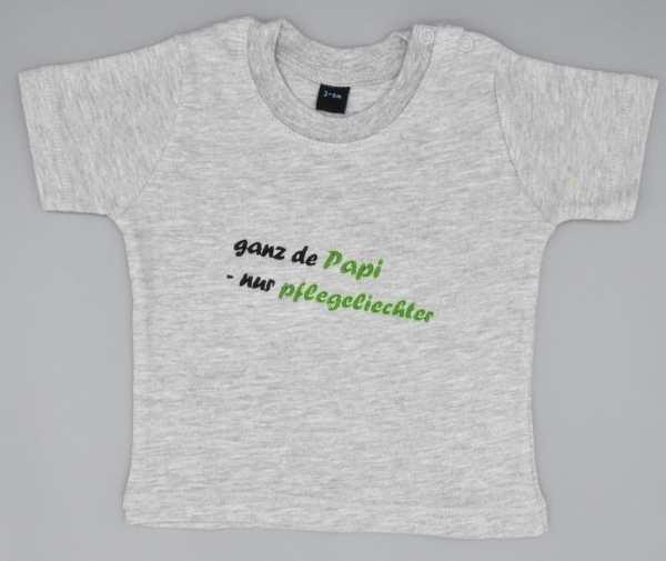 Baby T-Shirt Papi grau