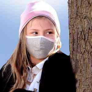 Kinder Mundschutzmaske rosa