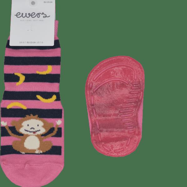EWERS ABS Socken Äffchen rosa- extra dünn