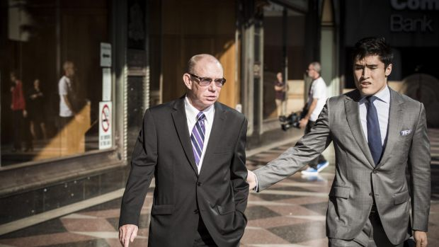 Keith Hunter, left, former head of IT delivery services at CBA, was in December 2016 sentenced to 3½ years in prison for ...