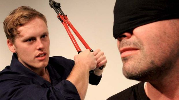 Hostage and captors clash in a tale thats dark but brief