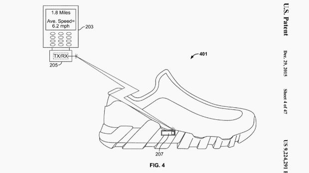 Nike granted patent for smart shoe with in-built fitness