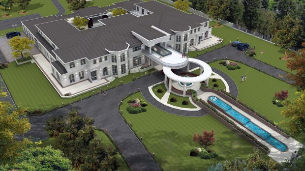 Cr Khan's proposed mansion in Tarneit, which included plans for a helipad.