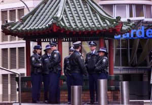 Police swarmed on Sydney's Chinatown after a crime rampage involving the Big Circle Gang in 2002.