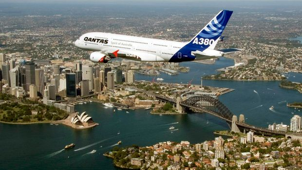 An A380 over Sydney. Airbus says its tweaked design will add a further 80 seats to the world's largest passenger plane.