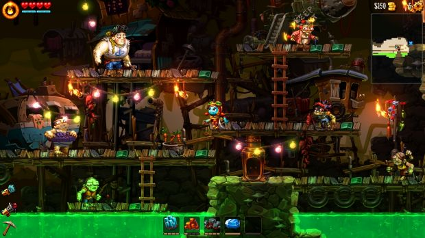 Humans exist in the robot-dominated Steamworld universe, but they're a little off.