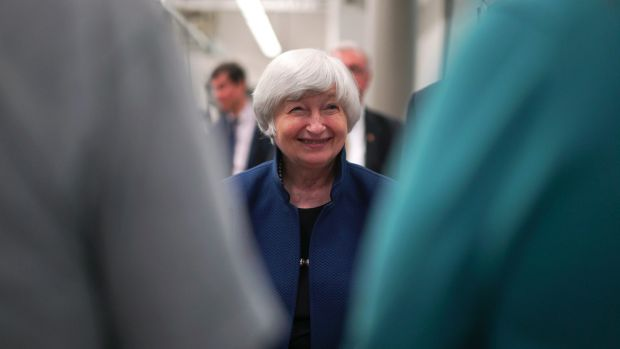 Financial markets are pricing in a 70 per cent chance Fed chair Janet Yellen lifts rates in December.