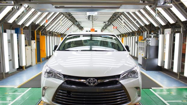 The final Toyota Camry will roll off the factory line this afternoon.