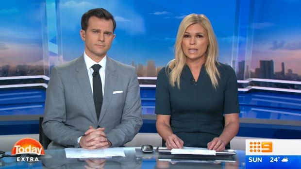 Today Extra hosts Sonia Kruger and David Campbell on Nine.