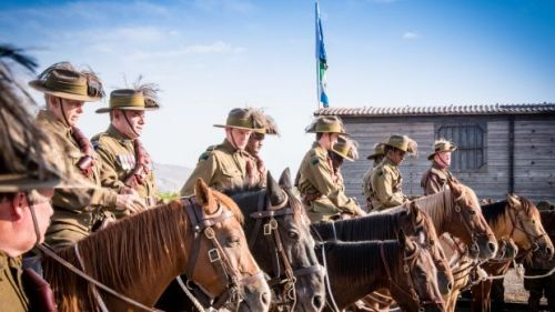 Australian Light Horse Association riders preparing for the 100 years commemoration of the Australian Charge on Beersheba.