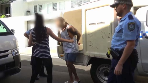 Ben Darcy, 28, is arrested at a Paddington home as part of Operation Northrop into cocaine rings in Sydney.