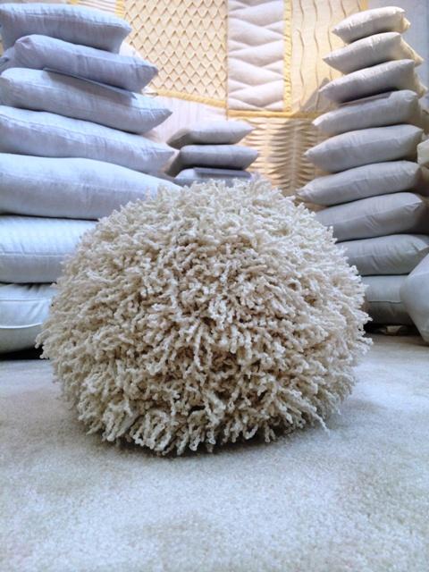 Shaggy Knit Pillow Ball  Fairfield World Craft Projects