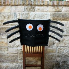 Chair Covers Craft Ideas Bathtub Lift No Sew Spider Cover Inspired By Pottery Barn